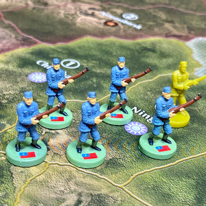 Chinese Infantry x5 OOB Sculpts Pastel Blue