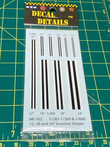 Decals- Aircraft Invasion Stripes 1/285-1/300 1/600 | MI-102 | Axis and Allies