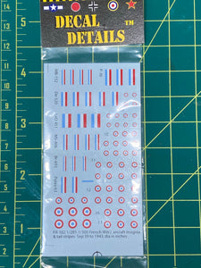 Decals- WW2 French Aircraft Insignia | FR-102 | Axis and Allies
