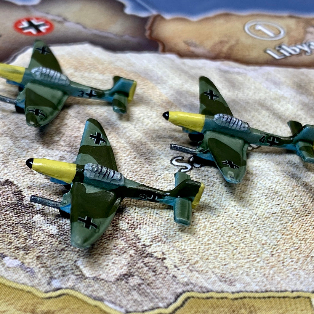 Axis and Allies Painted Pieces HBG German Stuka Tactical Dive Bomber X3