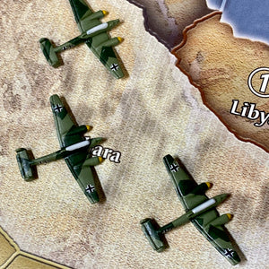 Axis and Allies Painted Pieces HBG German ME-110 Tactical Dive Bomber X3