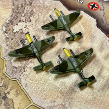 Load image into Gallery viewer, Axis and Allies Painted Pieces HBG German Stuka Tactical Dive Bomber X3
