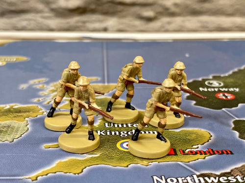 British Infantry x5 (Axis and Allies Out of Box Units)