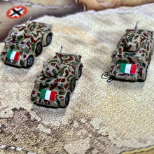 Load image into Gallery viewer, Italian Mechanized Infantry x3 (FMG Autoblinda 41 Armored Car)