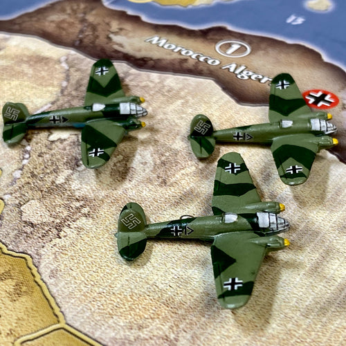 Axis and Allies Painted Pieces HBG German Strategic Bomber X3