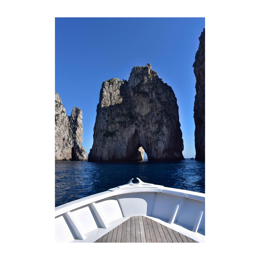 Approaching the Faraglioni Rocks, Capri