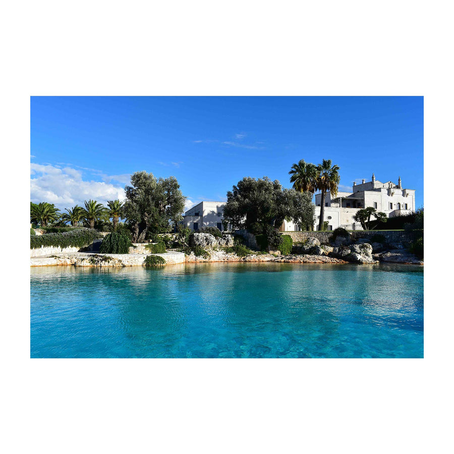 Natural Swimming Pool at Masseria San Domenico in Puglia