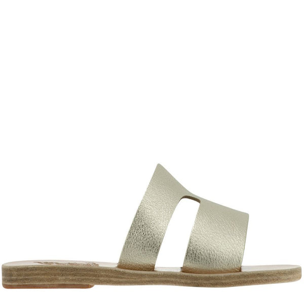 Apteros Slide Leather Flat Sandal