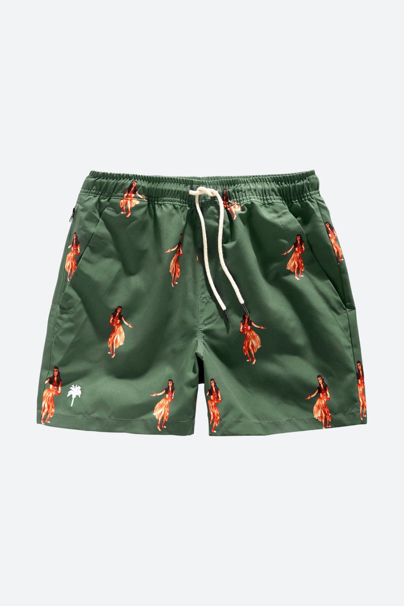 Honolulu Print Swim Trunk
