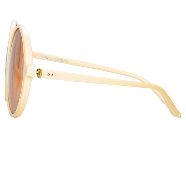 Bianca Round Cream Sunglasses