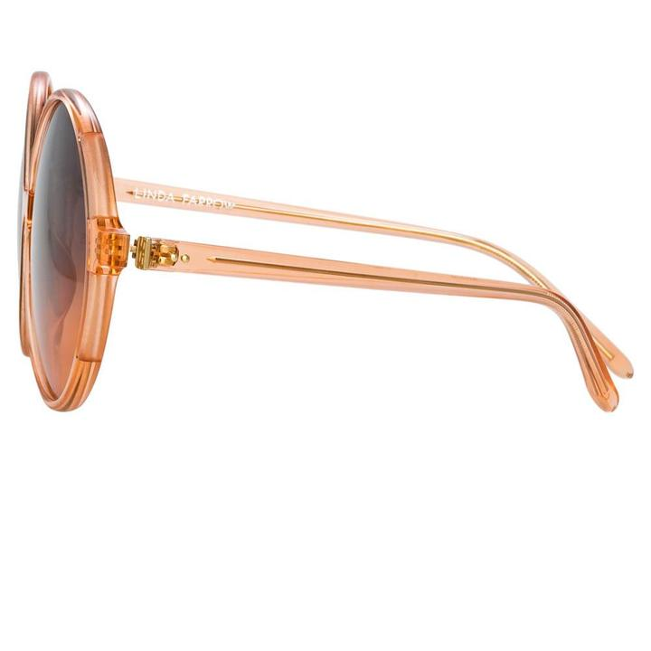 Bianca Round Orange Sunglasses