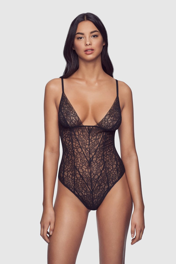 Bandage Stretch Lace Bodysuit
