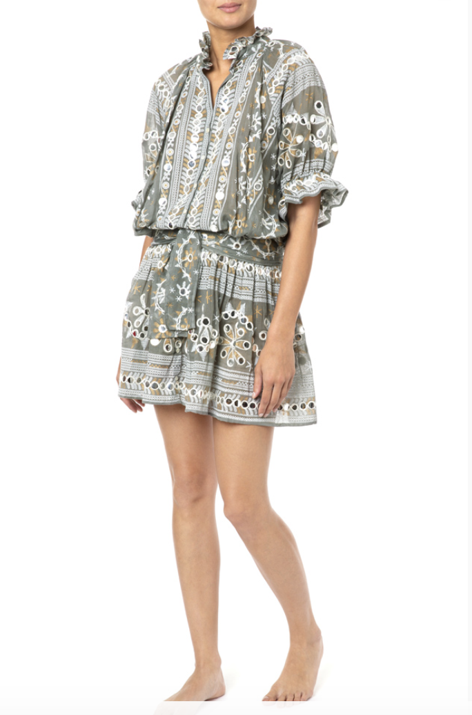 Nomad Print Blouson Dress