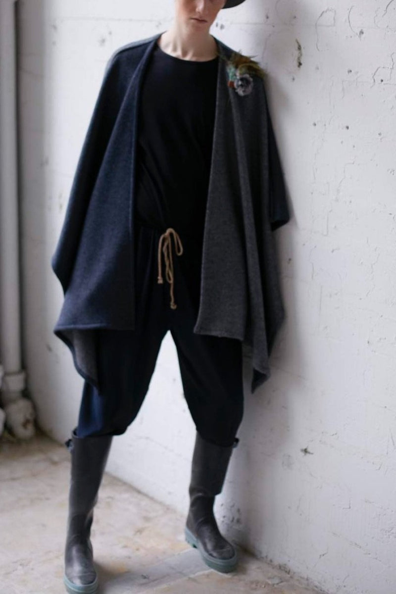 Salted Wool Short Cape