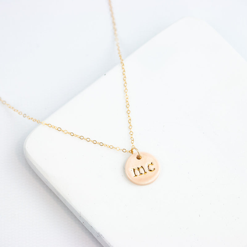 Double Initial Charm Necklace