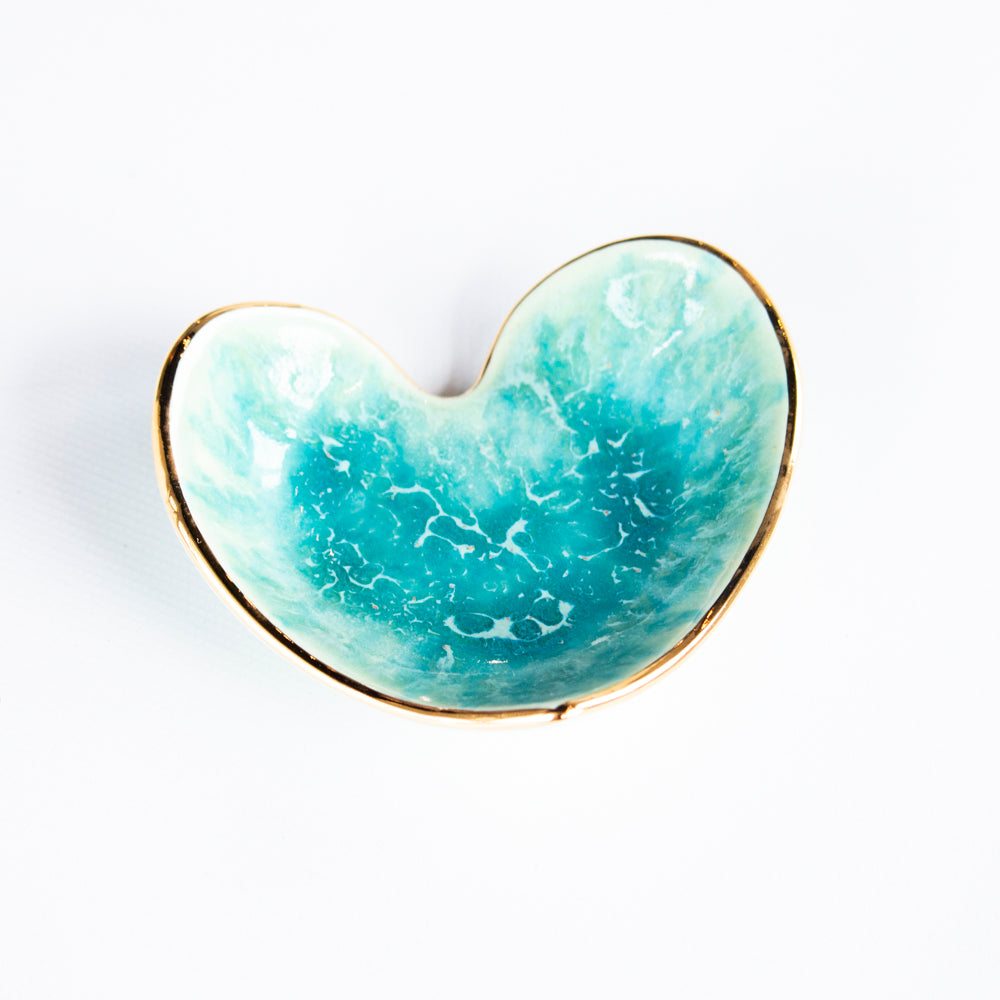 Leopard Heart Ring Dish