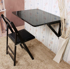 SoBuy® Mesa de cocina,  mesa plegable de pared,  mesa de madera,  mesa de comedor,  mesa de pared,  75x60cm 2 soportes,  (sillas no incluidas),  FWT05-SCH (negro) [video game]