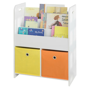 SoBuy KMB27-W Biblioteca Padrão Kids Organizer Toys and Books for Children 58 * 27 * 76cm ES
