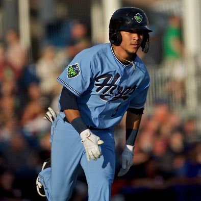 Game Worn Jersey - Light Blue, Hillsboro Hops