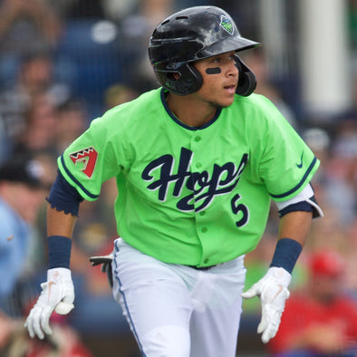 Game Worn Jersey - Lime, Hillsboro Hops