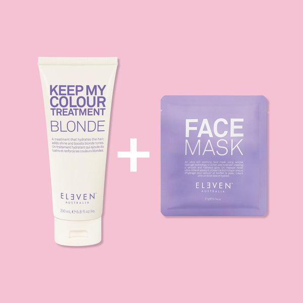 Treat & Tone - Keep My Colour Blonde Treatment 200 ml + GRATIS FACE MASK