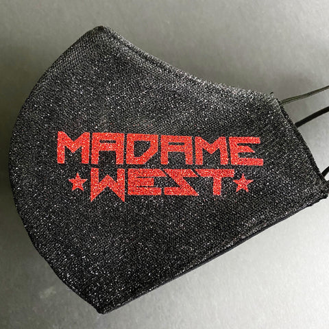 Virginia West - Glitter Black and Red Madame West