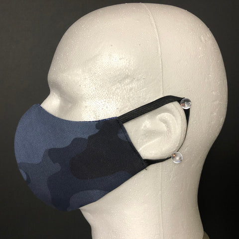Fashion Face Cover - Blue Camouflage