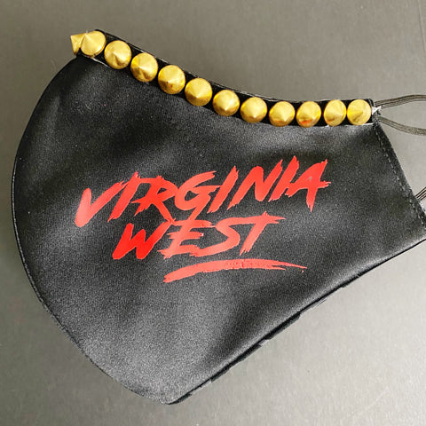 Virginia West - Black with Gold Spikes