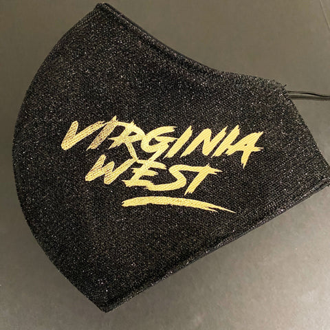 Virginia West - Glitter Black with Gold Foil Text