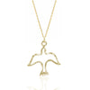 Dove Necklace, 14k Yellow Gold