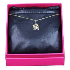Butterfly Necklace, 14k Yellow Gold