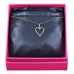 Heart of Gold Necklace, 14k Yellow Gold