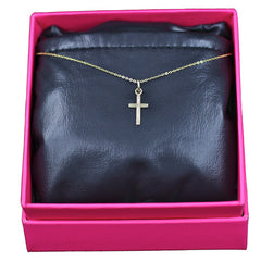Cross Necklace, 14k Yellow Gold