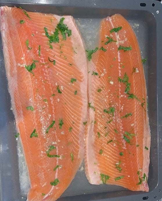 Salmon Fillet Cooked in Oven