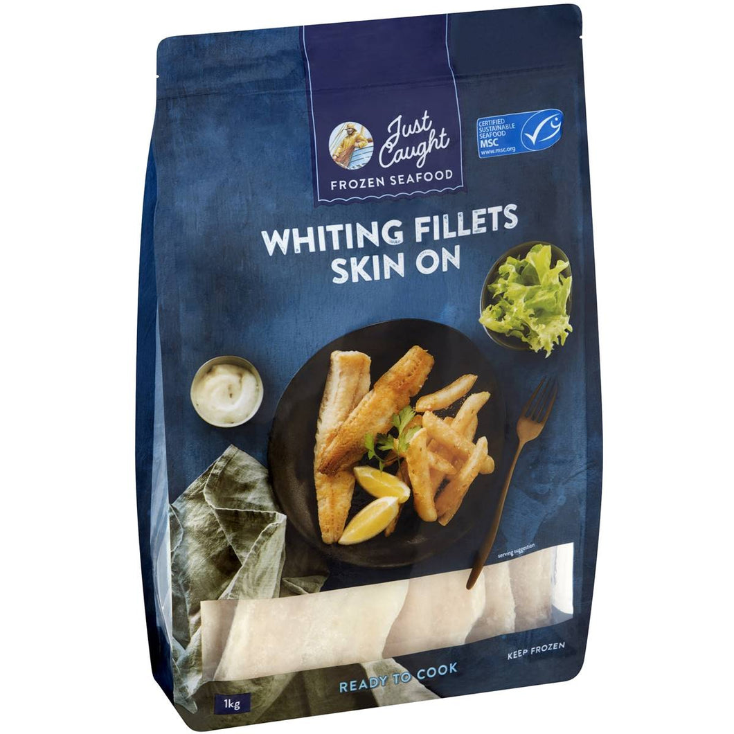 J/C Raw Whiting Fillets Skin On 1kg