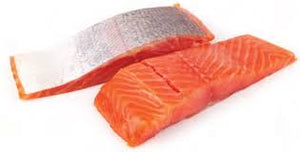 Salmon Portions Skin On 200g