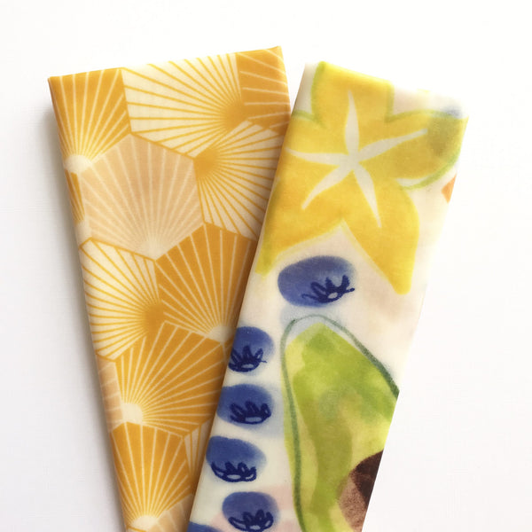 Beeswax Food Wraps - Lunch Pack (Hive / Fruit)