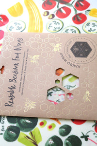 Beeswax Food Wraps - Jumbo Wrap (Vegetable)
