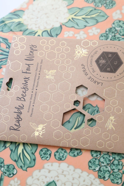 Beeswax Food Wraps - Large Wrap (Cauliflower)