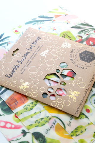 Beeswax Food Wraps - Starter Pack (Vegetable)
