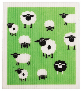 RetroKitchen Compostable Dish Cloth (Sheep Print)