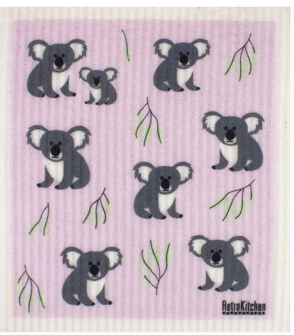 RetroKitchen Compostable Dish Cloth (Koala Print)
