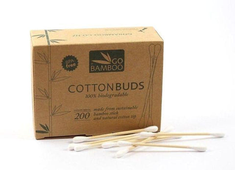 Go Bamboo 100% Biodegradable Bamboo Cotton Buds (200pk)