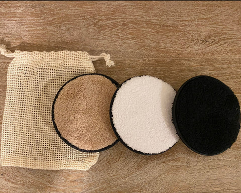 Reusable Makeup Remover Pads (3 pack with washbag) - face