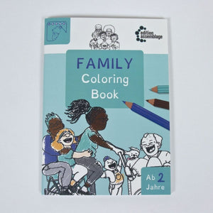 Family Coloring Book Malbuch