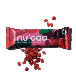 the nu company nucao Schoko-Riegel Wild Berry Wilde Beere