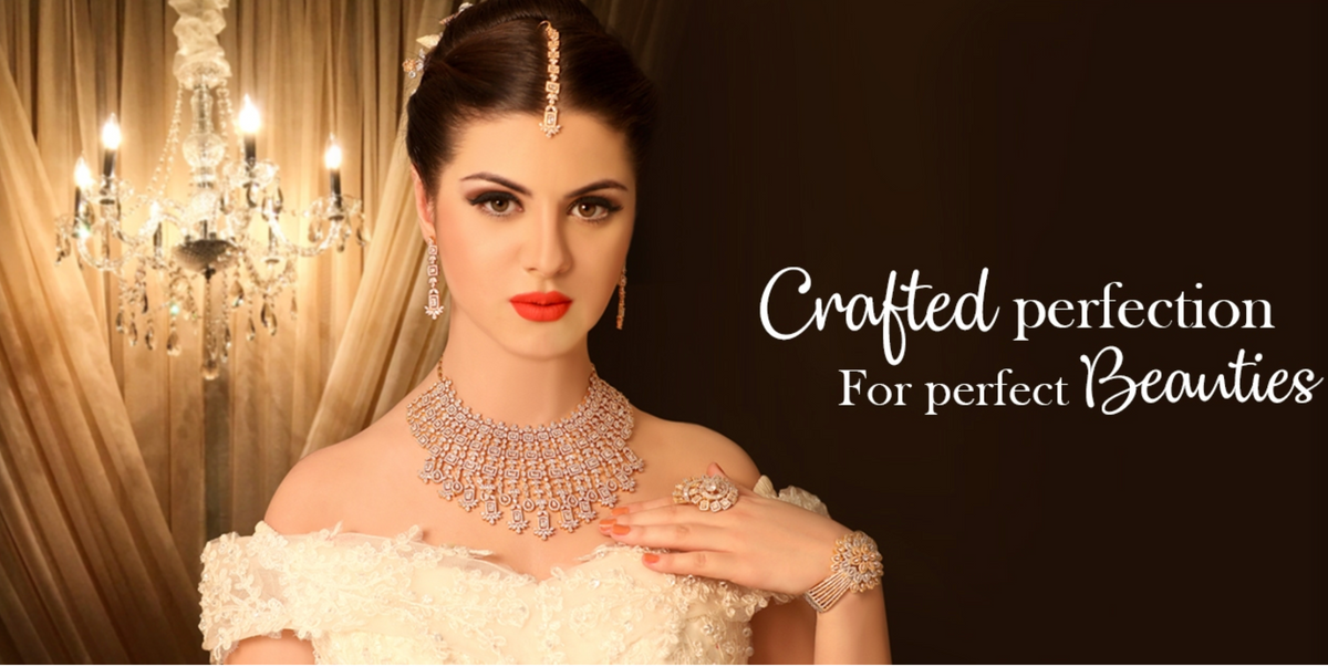 Designer Indian Diamond Necklace & Earrings