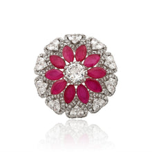 Load image into Gallery viewer, Diamond Ruby Cocktail Ring - Kiwibay