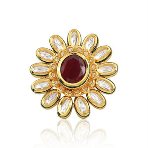 Kundan Cocktail Ring - Designer Indian Jewellery - Kiwibay