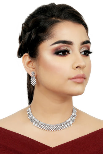 Stunning Diamond Necklace Set - Kiwibay
